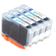 4 Go Inks Photo Cyan Ink Cartridges to replace Canon CLI-8PC Compatible / non-OEM for PIXMA & Pixus Printers