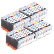 4 Go Inks Set of 6 Ink Cartridges to replace Canon CLI-8 Compatible / non-OEM for PIXMA & Pixus Printers (24 Pack)