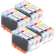 4 Go Inks C/M/Y Set of 3 Ink Cartridges to replce Canon CLI-8 Compatible / non-OEM for PIXMA & Pixus Printers (12 Pack)