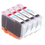 4 Go Inks Magenta Ink Cartridges to replace Canon CLI-8M Compatible / non-OEM for PIXMA & Pixus Printers