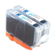 2 Go Inks Photo Cyan Ink Cartridges to replace Canon CLI-8PC Compatible / non-OEM for PIXMA & Pixus Printers