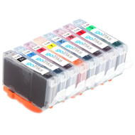 1 Go Inks Set of 8 Ink Cartridges to replace Canon CLI-8 Compatible / non-OEM for PIXMA Printers (8 Pack)