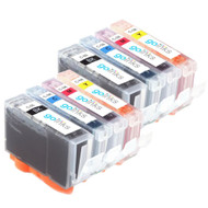 2 Go Inks Set of 4 Ink Cartridges to replace Canon PGI-5 & CLI-8 Compatible / non-OEM for PIXMA & Pixus Printers (8 Pack)
