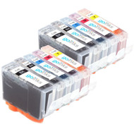 2 Go Inks Set of 5 Ink Cartridges to replace Canon PGI-5 & CLI-8 Compatible / non-OEM for PIXMA & Pixus Printers (10 Pack)