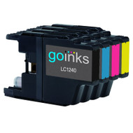1 Go Inks Set of 4 Ink Cartridges to replace Brother LC1240 & LC1220 Compatible / non-OEM for Brother DCP & MFC Printers (4 Inks)