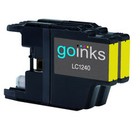 2 Go Inks  Yellow Ink Cartridges to replace Brother LC1240Y & LC1220Y Compatible / non-OEM for Brother DCP & MFC Printers