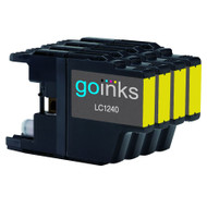 4 Go Inks  Yellow Ink Cartridges to replace Brother LC1240Y & LC1220Y Compatible / non-OEM for Brother DCP & MFC  Printers