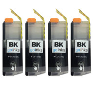4 Go Inks Black Ink Cartridges to replace Brother LC127XLBk Compatible / non-OEM for  Brother DCP & MFC Printers