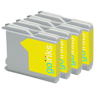 4 Go Inks Yellow Ink Cartridges to replace Brother LC970Y & LC1000Y Compatible / non-OEM for Brother DCP, MFC & FAX Printers