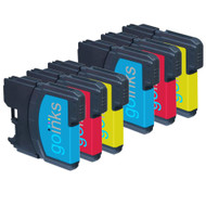 2 Go Inks Set of 3 C/M/Y Ink Cartridges to replace Brother LC980 & LC1100 Compatible / non-OEM for Brother DCP & MFC Printers (6 Inks)