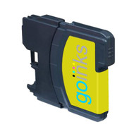 1 Go Inks Yellow Ink Cartridge to replace Brother LC980Y & LC1100Y Compatible / non-OEM for Brother DCP & MFC Printers