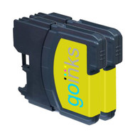 2 Go Inks Yellow Ink Cartridges to replace Brother LC980Y & LC1100Y Compatible / non-OEM for Brother DCP & MFC Printers