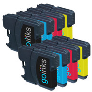 2 Go Inks Set of 4 Cartridges to replace Brother LC980 & LC1100 Compatible / non-OEM for Brother DCP & MFC Printers (8 Inks)