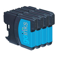 4 Go Inks Cyan Ink Cartridges to replace Brother LC980C & LC1100C Compatible / non-OEM for Brother DCP & MFC Printers
