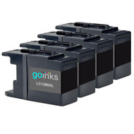 4 Go Inks Black Ink Cartridges to replace Brother LC1280XLBk (XXL)  Compatible / non-OEM for Brother MFC Printers