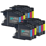 4 Go Inks Set of 3 C/M/Y Ink Cartridges to replace Brother LC1280XL Compatible / non-OEM for Brother MFC Printers (12 Inks)