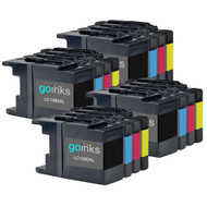 4 Go Inks Set of 4 Ink Cartridges to replace Brother LC1280XL Compatible / non-OEM for Brother MFC Printers (16 Inks)