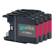 4 Go Inks  Magenta Ink Cartridges to replace Brother LC1280XLM Compatible / non-OEM for Brother MFC Printers