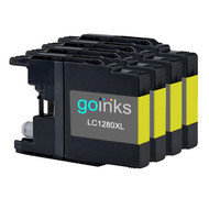 4 Go Inks  Yellow Ink Cartridges to replace Brother LC1280XLY Compatible / non-OEM for Brother MFC Printers