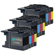 3 Go Inks Set of 4 Ink Cartridges to replace Brother LC1280XL Compatible / non-OEM for Brother MFC Printers (12 Inks)