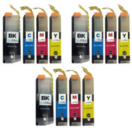 3 Go Inks Set of 4 Ink Cartridges to replace Brother - LC127XL & LC125XL Compatible / non-OEM for Brother DCP & MFC Printers (12 Inks)