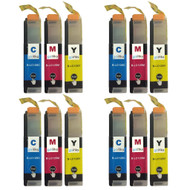 4 Go Inks Set of 3 C/M/Y Ink Cartridges to replace Brother LC125XL Compatible / non-OEM for Brother DCP & MFC Printers (12 Inks)