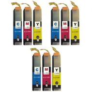 3 Go Inks Set of 3 C/M/Y Ink Cartridges to replace Brother LC125XL Compatible / non-OEM for Brother DCP & MFC Printers (9 Inks)