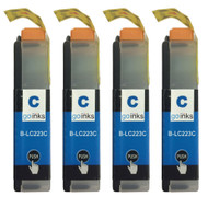 4 Go Inks Cyan Ink Cartridges to replace Brother LC223C Compatible / non-OEM for Brother DCP & MFC Printers