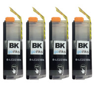 4 Go Inks Black Ink Cartridges to replace Brother LC223BK Compatible / non-OEM for Brother DCP & MFC Printers