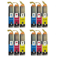 4 Go Inks Set of 3 C/M/Y Ink Cartridges to replace Brother LC223 Compatible / non-OEM for Brother DCP & MFC Printers (12 Inks)