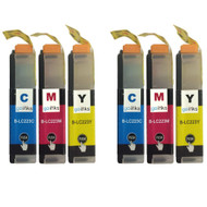 2 Go Inks Set of 3 C/M/Y Ink Cartridges to replace Brother LC223 Compatible / non-OEM for Brother DCP & MFC Printers (6 Inks)