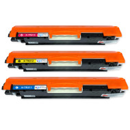 1 Go Inks Set of 3 C/M/Y Laser Toner Cartridges to replace HP CE311A / CE312A / CE313A Compatible / non-OEM for HP Colour & Pro Laserjet Printers