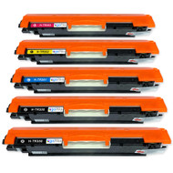 1 Go Inks Set of 4 + extra black Laser Toner Cartridges to replace HP CF350A / CF351A / CF352A / CF353A Compatible / non-OEM for HP Colour & Pro Laserjet Printers