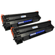 2 Go Inks Black Laser Toner Cartridges to replace HP CB436A Compatible / non-OEM for HP Laserjet Printers
