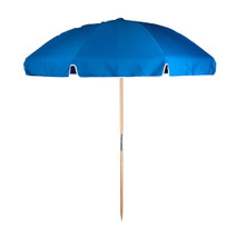 7.5 ft. Steel Commercial Grade Beach Umbrella, Ash Wood Pole, Acrylic Fabric