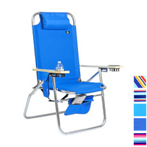 Extra Large Heavy Duty Beach Chair 17 inches Seat Height, 300 lb Load Capacity