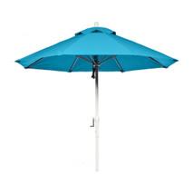 11 ft Commercial Fiberglass Market Umbrella, Acrylic Fabric, Crank Auto Tilt