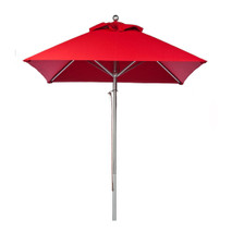 7.5 ft. Square Commercial Aluminum Market Umbrella - Acrylic Fabric