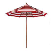 7.5 ft Commercial Grade Fiberglass Market Umbrella, Acrylic, Alum. Pole, Pulley