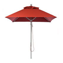 6.5 ft. Square Commercial Aluminum Market Umbrella - Acrylic Fabric