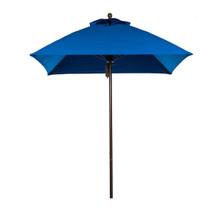 7.5 ft Commercial Fiberglass Market Umbrella Acrylic, Aluminum Pole, Pulley Lift