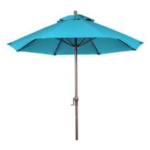 7.5 ft Commercial Fiberglass Market Umbrella, Acrylic, Crank Auto Tilt, Aluminum