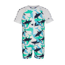 Baby Boy One Piece Swim SunSuit UPF50+ Short Sleeve