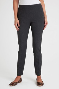 Alexa Stretch Ponte Pant in Charcoal Gray