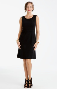 Carmen Lightweight Ponte Flip Dress Black