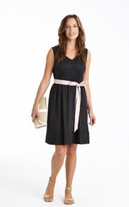 Vivian Stretch Poplin Dress Black