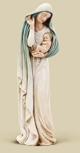 "12"" Madonna with Child Statue"