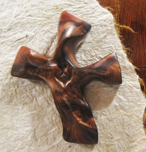 Clinging Cross - Matte Mahogany