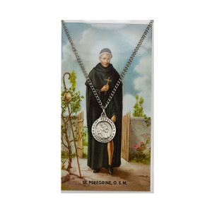 St. PeregrinePrayer Card and Medal Set- Small