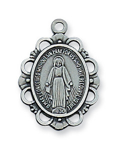 Antique Pewter Miraculous Medal-Small